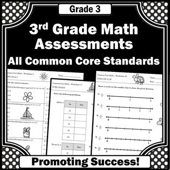 3rd grade common core math assessments review all