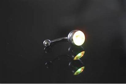 Belly Button Ring Led Unique Rgb Shipped