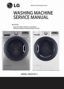 Lg Wm3575cv Wm3575cw Washer Service Manual And Repair