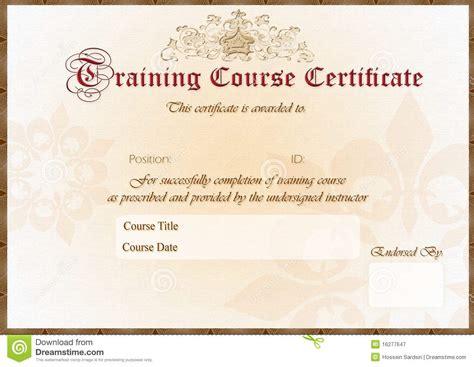 training certificate stock illustration illustration