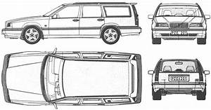 1992 volvo 850 estate turbo wagon blueprints free outlines for Volvo 850 t5 wagon