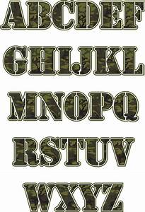 349 best camouflage printables images on pinterest camo With camo letters for wall