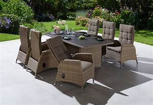 Gartenmöbel Polyrattan Set : ploss gartenm belset tokio 13 tlg 6 sesseln tisch ~ Watch28wear.com Haus und Dekorationen