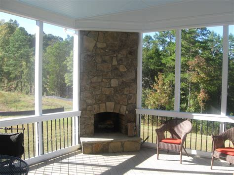 covered porch plans putting your outdoor fireplace integrated into your screen porch covered patio archadeck of