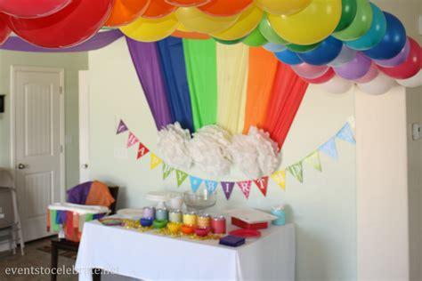rainbow themed birthday events to celebrate