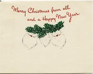 Santa Family Vintage Christmas Greeting Card ~ Free ...