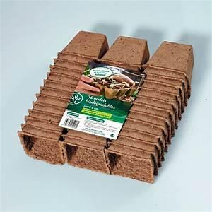 Carré Potager Gamm Vert : 36 pots biod gradables carre 8 cm gamm vert carton ~ Dailycaller-alerts.com Idées de Décoration