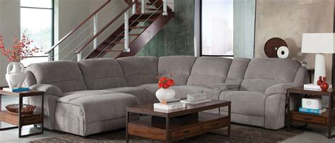 coaster mackenzie 6 motion sectional sofa set silver 600017 at homelement