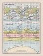 Ocean Currents Climate Chart - Bartholomew 1892 - 23.00 x ...