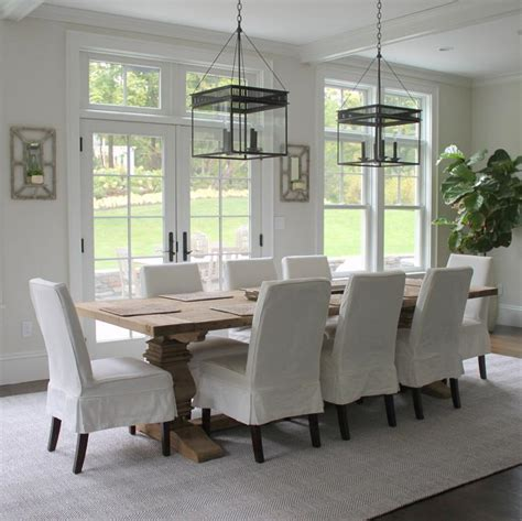 Reclaimed Wood Trestle Dining table   Transitional