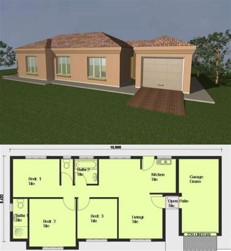beautiful house plans south africa   flat roof