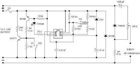 Car Battery Tester Measuring Test Circuit