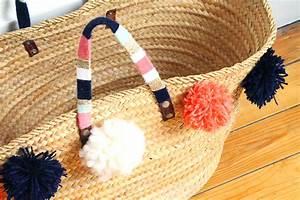 Panier A Pompon : diy customiser son panier en osier video mademoiselle claudine le blog ~ Teatrodelosmanantiales.com Idées de Décoration