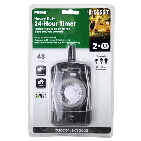 outdoor light timer shop prime 15 2 outlet mechanical residential in