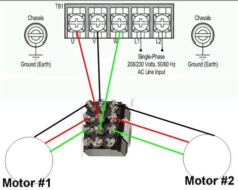230v Single Phase Vfd Wiring Diagram by 1 Vfd 2 Motors