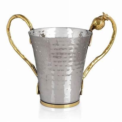 Cup Hammered Netilat Yadayim Effect Karshi Steel