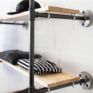 Garderobe Aus Rohren : offener kleiderschrank open wardrobe stahlrohm bel stahlrohrdesign temperguss ~ Watch28wear.com Haus und Dekorationen