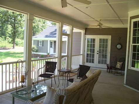 inside view of screen porch before converting into a