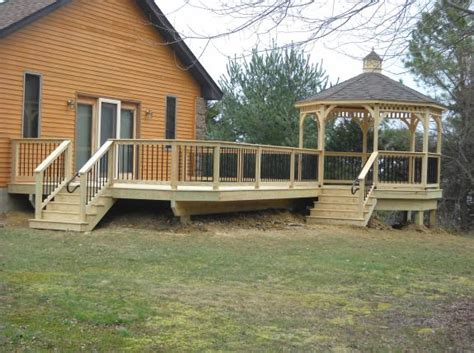 Options For Deck Railings decks with gazebos gazebo with deck builder in lancaster
