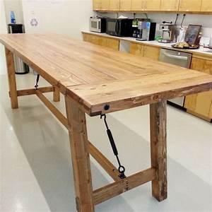 custom bar height harvest table by erick perez evergreen With counter height harvest table