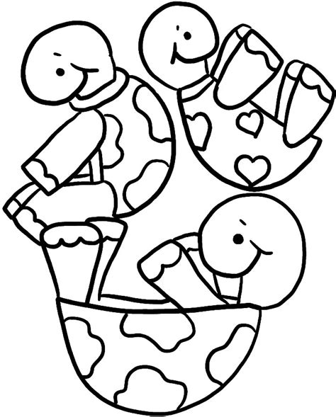 Tortugas para colorear Dibujos infantiles imagenes