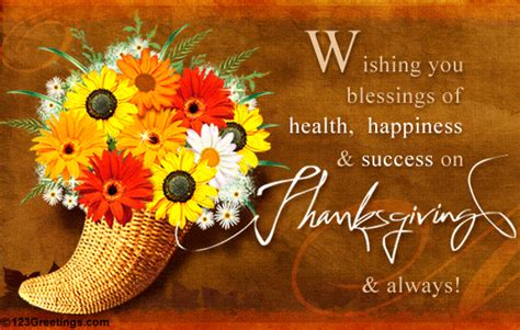 wishing  blessings  health happiness  success  thanksgiving pictures