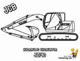Coloring Construction Machines Jcb Digger Excavator Digging Mighty Colour Loader Yescoloring Dozer Popular sketch template