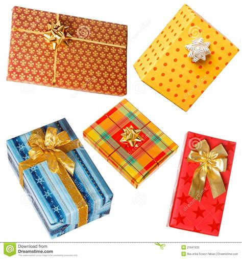 Various Gifts On White Stock Image Cartoondealercom