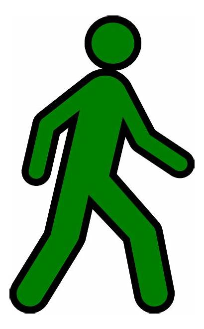 Walking Clip Clipart Yellow Human Person Cliparts