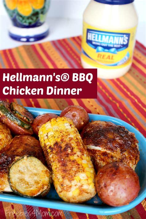 bbq dinner hellmann s 174 bbq chicken dinner recipe one pot meals