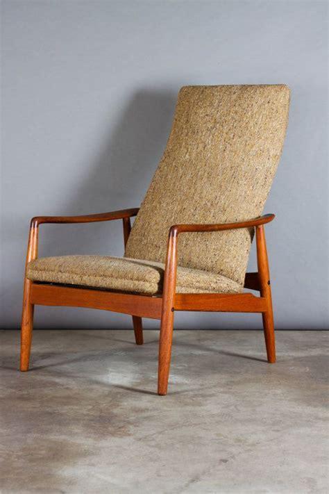 1960s modern mid century teak upholstered high