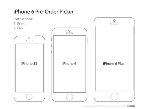 these templates will help you decide which iphone 6 size is right for you technology iphone