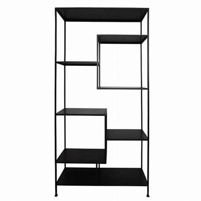 Staggered Shelves Iron Tall Shelving Cabinets Storage