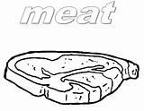 Coloring Pages Beef Meat Steak Printable Getdrawings Getcolorings Template sketch template