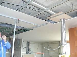 Faux Plafond Placo : faux plafond construction jaures ~ Melissatoandfro.com Idées de Décoration
