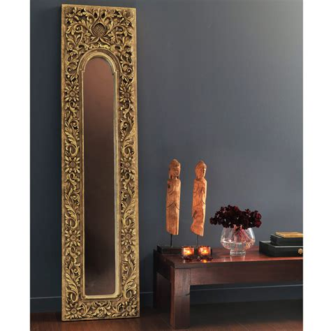 motif chambre fille miroir trumeau en résine doré h 178 cm hoa maisons du monde