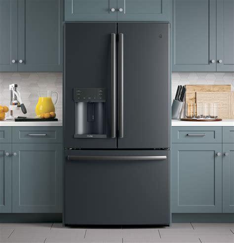 pfekelds ge profile   cu ft french door refrigerator black slate