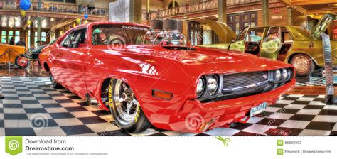 Classic American Muscle Car Hot Rod Stock Photo