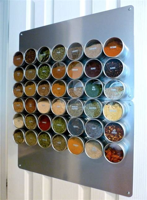 How To Make A Magnetic Spice Rack by Magnetic Spice Rack Diy Projects Kitchen Organization
