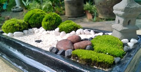 brown stone mini zen garden diy mini zen garden