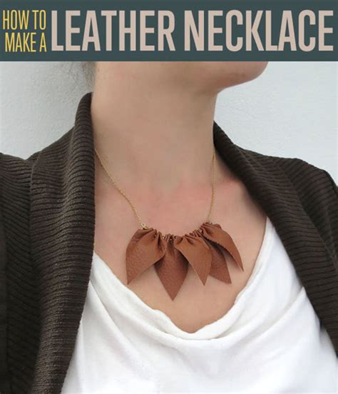 leather necklace diy projects craft ideas