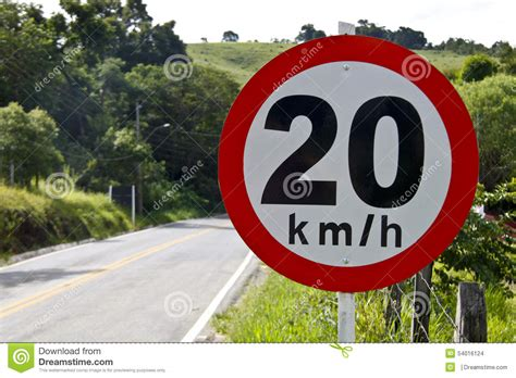 Per Hour by Regulatory Board Speed On Road 20 5140 Stock Photo Image