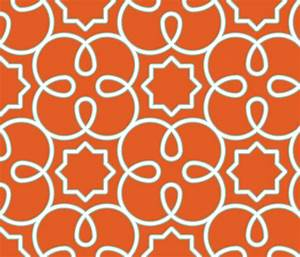 Geometric Loopy-Orange fabric - anntuck - Spoonflower