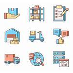 Logistics Business Strategy Icons Svg