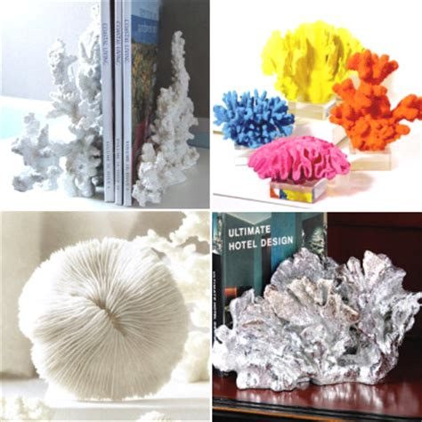 coral colored decorative items artificial faux corals for decor completely coastal