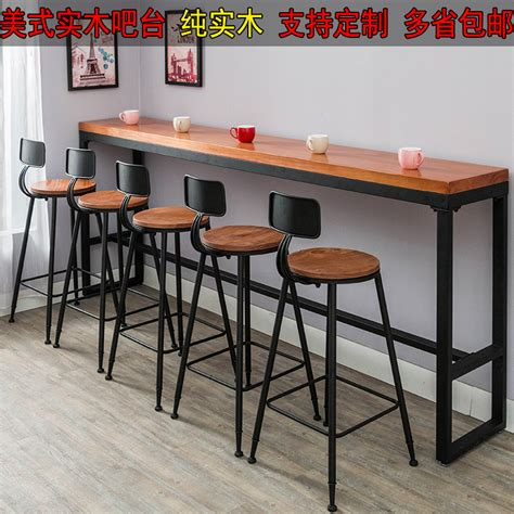 retro casual cafe bar tables against the wall home bar