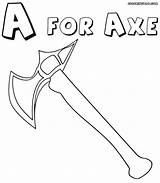 Axe Coloring Pages Axe3 Coloringway 35kb 1000px sketch template