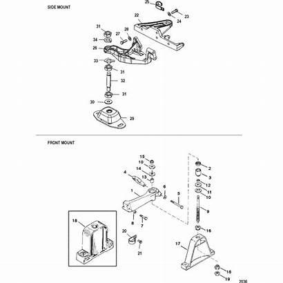 Engine Mercruiser Mounting Parts 0l Gm L4