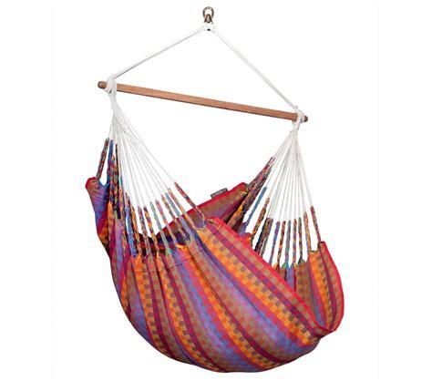 chaise hamac suspendu chaise hamac large colombienne carolina la siesta