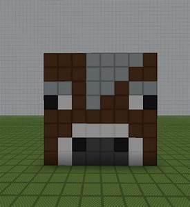 minecraft pixel art helper minecraft cow head With minecraft cow template